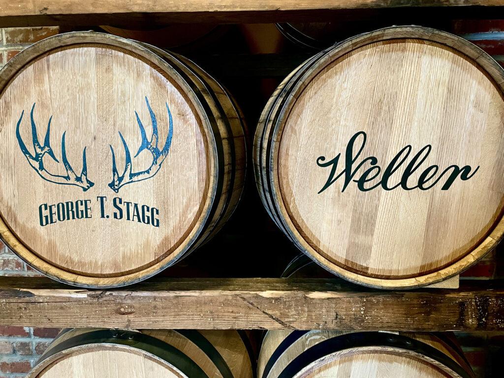 barrels in a rick house