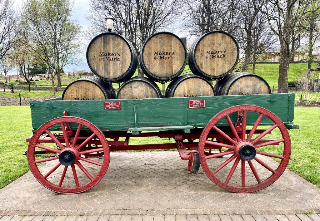 barrels at Maker's Mark